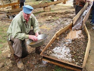 columbia diggins gold panning