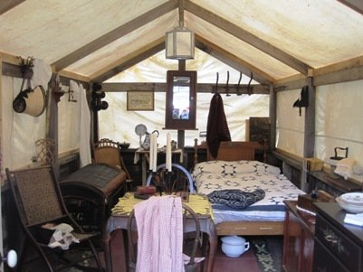 columbia diggins tent town home interior