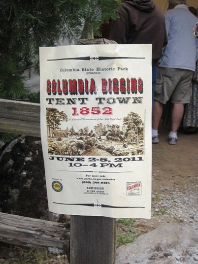 columbia diggins tent town