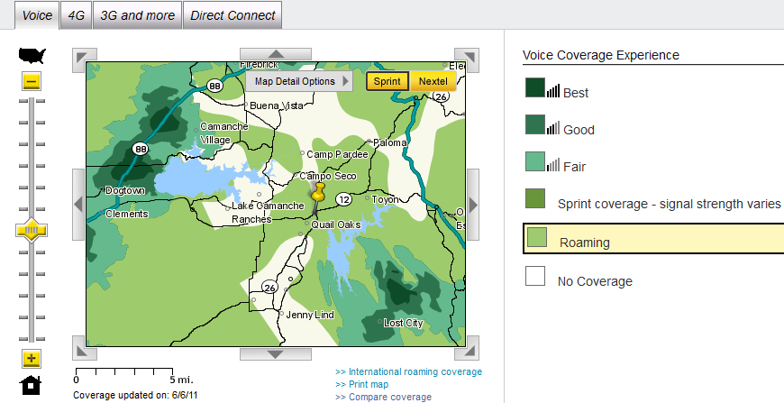 Cell Phone Coverage Maps For Valley Springs – What Cell Service