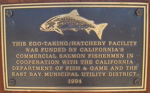 mokelumne river fish hatchery plaque