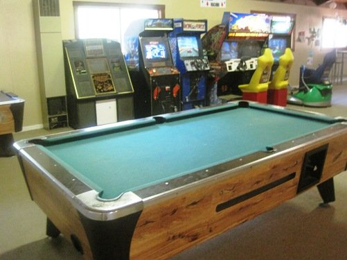 arcade pool table gold country campground
