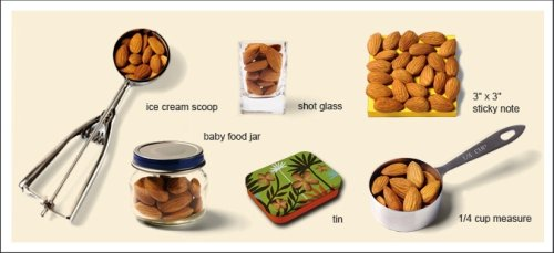 almond serving size