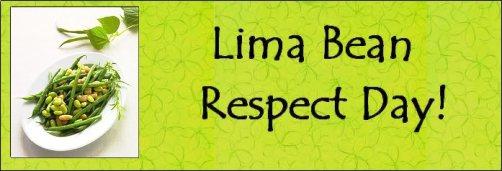 lima bean respect day 2012