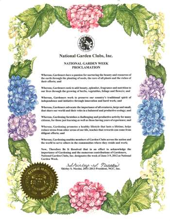 2012 national garden week proclamation