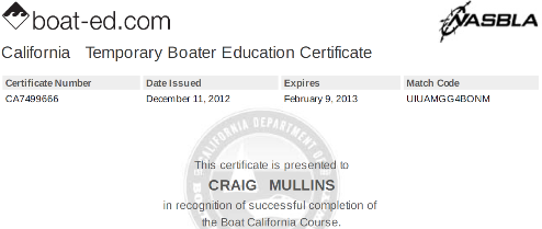 California Boater Education Course and class