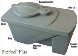 The BioPod Plus Black Soldier Fly Larvae Breeding Bin - Grub Composting
